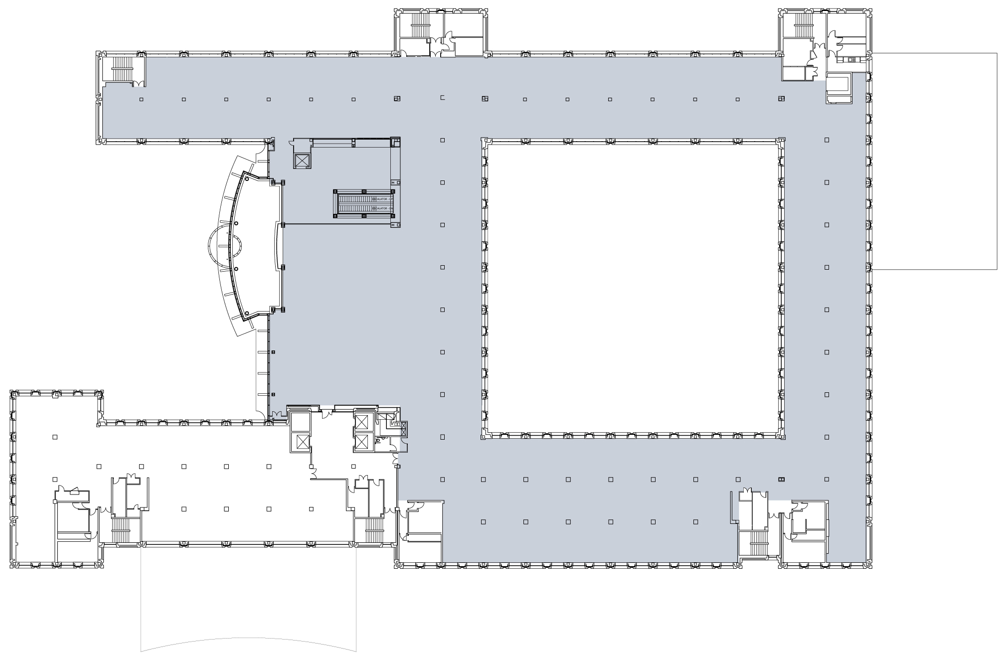 First floor - 39,220 sq ft (365 people)