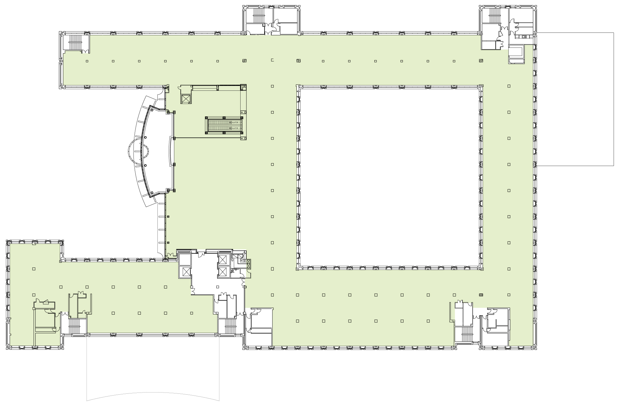 First Floor - 46,590 sq ft (432 people)